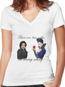 Regina Mills/The Evil Queen Women's Fitted V-Neck T-Shirt