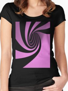 Purple Swirl Women's Fitted Scoop T-Shirt