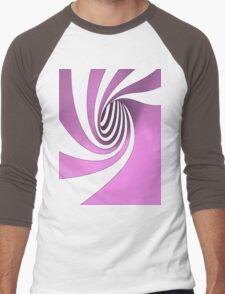 Purple Swirl Men's Baseball ¾ T-Shirt