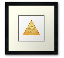All Seeing Eye / Eye of Horus Framed Print