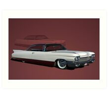 1960 Cadillac Coupe DeVille Low Rider Art Print