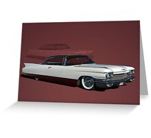 1960 Cadillac Coupe DeVille Low Rider Greeting Card