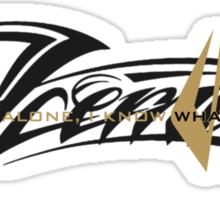 Kimi Raikkonen - I Know What I'm Doing! - Iceman - Lotus Gold Sticker