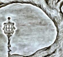 A winter evening Sticker