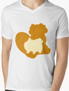 PKMN Silhouette - Bidoof Family Mens V-Neck T-Shirt