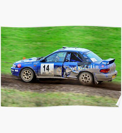 Subaru Impreza No 14 Poster