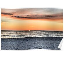 Sunset on the Gulf (HDR) Poster