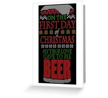 Beer Christmas Sweater Greeting Card