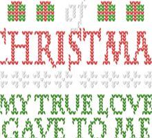Beer Christmas Sweater Sticker