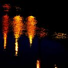 Street Lights Reflected In Water by Fara