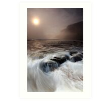 the sea, the mist, the stoneboat #2 Art Print