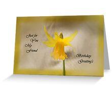 Daffodil Card Greeting Card