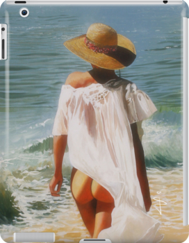 iPad Case - Girl on the Beach by Jan Szymczuk