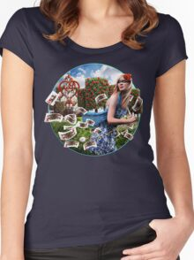 Robbery In Wonderland Women's Fitted Scoop T-Shirt