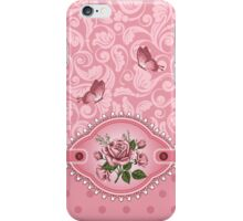 Cute Girly Pink Dots Damask Pattern Rose iPhone 5 / iPhone 4 / Samsung Galaxy Cases  iPhone Case/Skin
