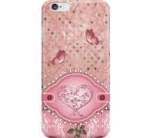 Pink Girly Cute Polka Dots Roses Pattern iPhone 5 Case / iPhone 4 Case / Samsung Galaxy Cases  iPhone Case/Skin
