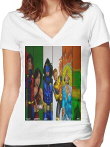 Celtic Knights Irish Flag Women's Fitted V-Neck T-Shirt