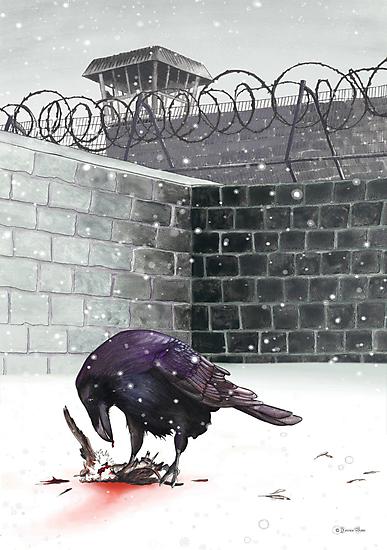 Crow, Bloody Snow by Jessica Bone