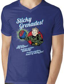 Sticky Grenades! Mens V-Neck T-Shirt