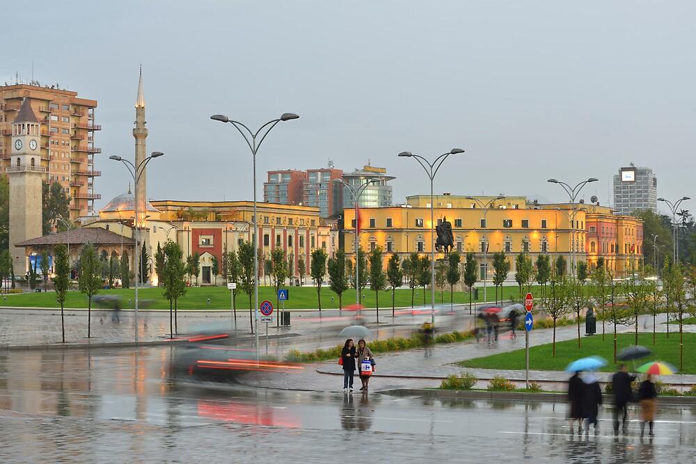 Rainy Day in Tirana by Kasia Nowak