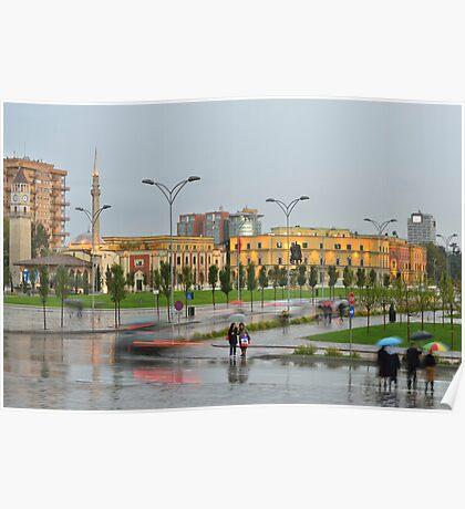 Rainy Day in Tirana Poster