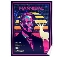 Hannibal 80's Poster Poster