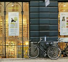 Shopping window and a shopping bike by Annbjørg  Næss