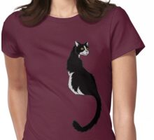 Tuxedo Tabby Tiger Womens Fitted T-Shirt
