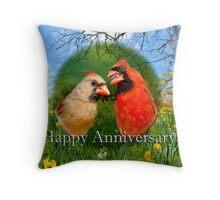 Happy Anniversary! Throw Pillow