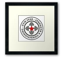 Gym Star - Strength And Conditioning Framed Print
