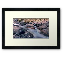 Frosty Creek Framed Print
