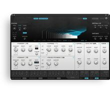 VST Synthesizer Screenshot Canvas Print