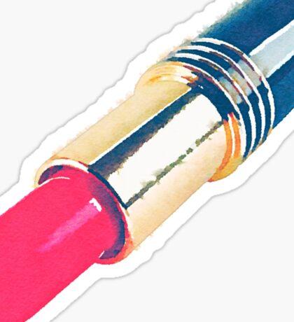 Pretty Lipstick Makeup Pastel Clueless Nail Polish Cute Watercolor Sticker