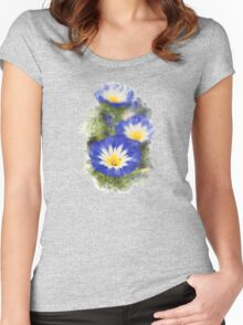 Morning Glory Watercolor Art Women's Fitted Scoop T-Shirt