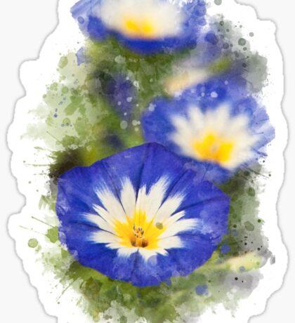 Morning Glory Watercolor Sticker