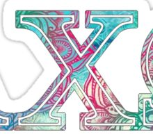 alpha chi omega axo colorful collection Sticker