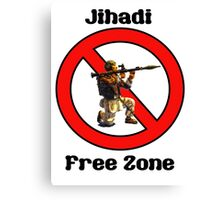 Jihadi Free Zone by #fftw Canvas Print