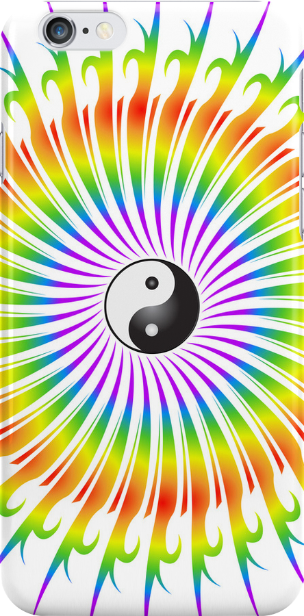 Yin Yang and Spiral Graphic by bradyarnold