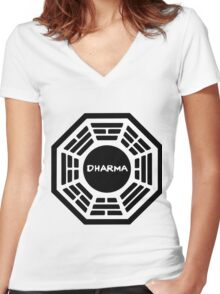 Dharma Initiative Women's Fitted V-Neck T-Shirt