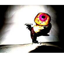 Eyeball Boy Goes Ice Skating Photographic Print
