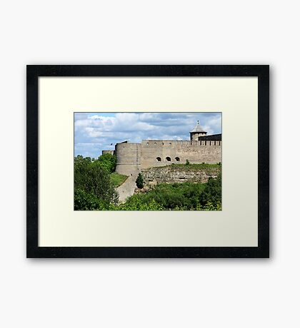 View of the Ivangorod Fortress Framed Print