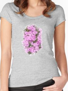 Phlox Flowers Watercolor Art Women's Fitted Scoop T-Shirt