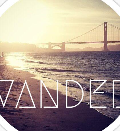 San Francisco Wander Beach Travel Awesome Ocean Good Vibes Tumblr Print Sticker