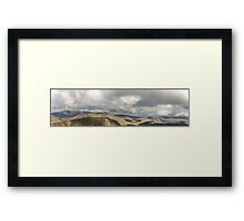 Lake District Landscape Panorama Framed Print