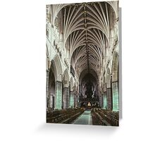 Nave Exeter Cathedral 19810114 0004 Greeting Card