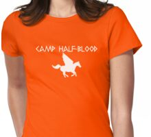 Camp Half-Blood - White Logo Womens Fitted T-Shirt