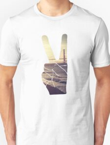 Peace Hand San Francisco Hipster Wanderlust Tumblr Print Unisex T-Shirt
