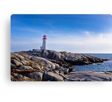 Peggy's Cove Lighthouse, Nova Scotia #2 Canvas Print