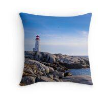 Peggy's Cove Lighthouse, Nova Scotia #2 Throw Pillow