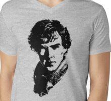 Sherlock Retro Style Mens V-Neck T-Shirt